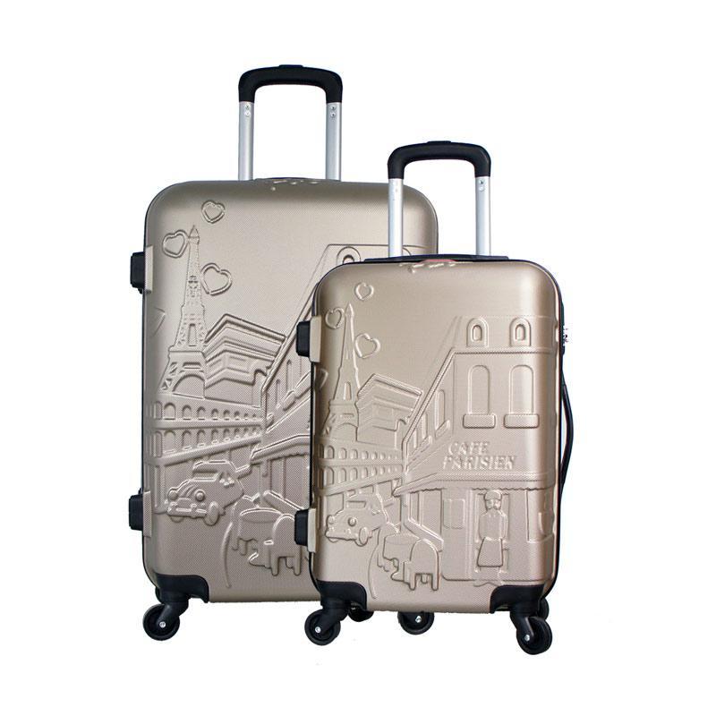 Polo Twin 6616-35 Troley Bag Set - Gold [20 dan 24 Inch]