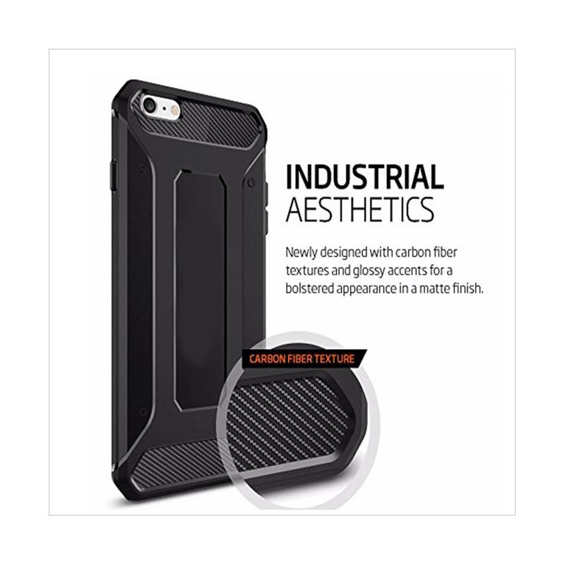 Spigen Rugged Capsule With Carbon Fiber Textures Softcase Casing for Samsung Galaxy A5 A520 2017 -