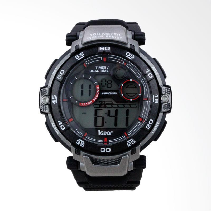 Digitec Dual Time Jam Tangan Pria Hitam List Merah Rubber Strap Source Lihat .