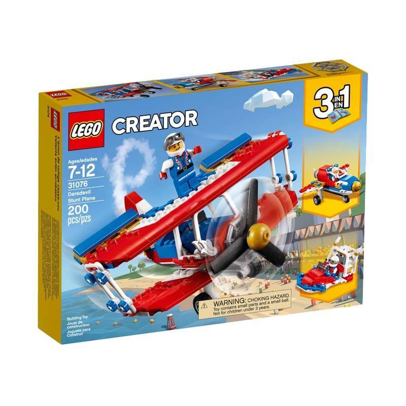 LEGO 31076 Creator Daredevil Stunt Plane Mainan Blocks