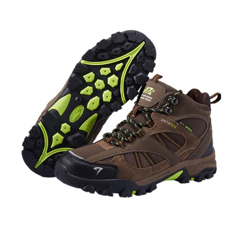 Snta Boots Sepatu Gunung Unisex - Brown Green [481]