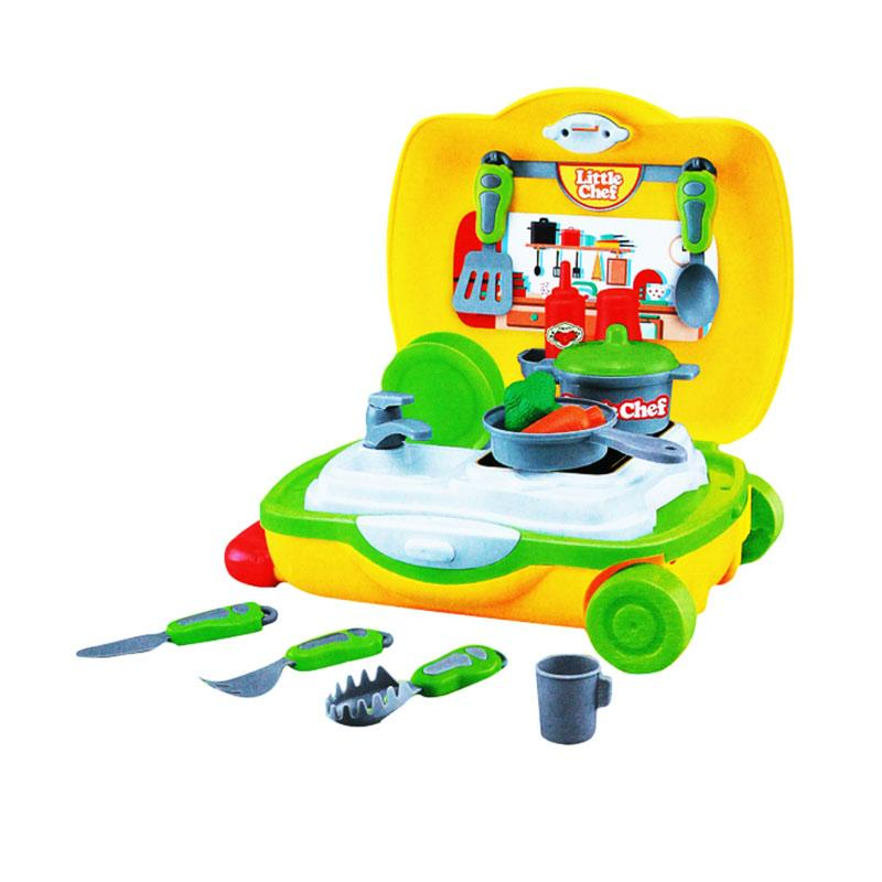Yoyo 9099A Little Chef Trolley Mainan Dapur Anak [22 pcs]