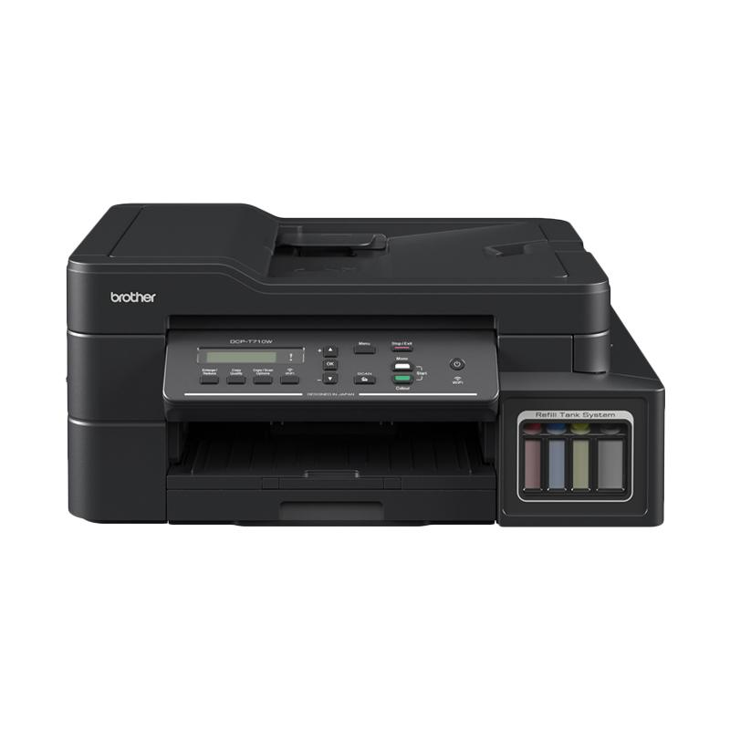 harga Brother DCP-T710W Wireless ADF Printer Inkjet Multifungsi - Hitam Blibli.com