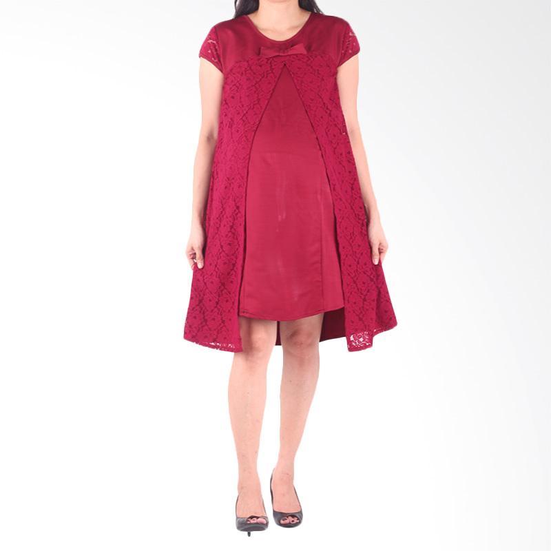 Kelebihan Kekurangan HMILL 1435 Baju Dress Hamil - Merah Dan Harganya