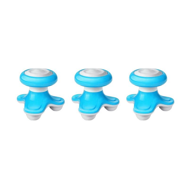 Yangunik Mini Electric Massager Paket Alat Pijat Elektrik - Biru [3 pcs]