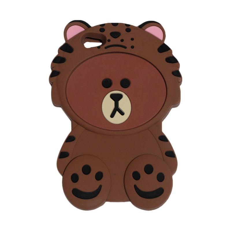 harga QCF Silikon 3D Boneka Animasi Bear Brown Baju Singa Softcase Casing for Vivo V5 Blibli.com
