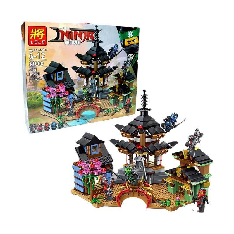 LELE KW Lele Blocks 31060 Ninjago Battle At The Temple Of Airjitzu Mainan Blok & Puzzle
