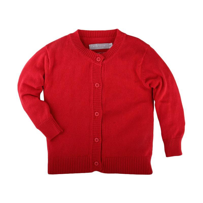 Hello Mici Basic Knitwear Baby Cardigan Baju Bayi - Red