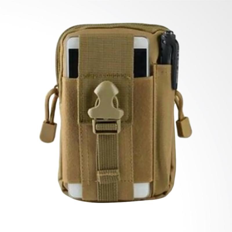 28fashion Tactical Stylish Tas Pinggang Pria - Coklat Muda