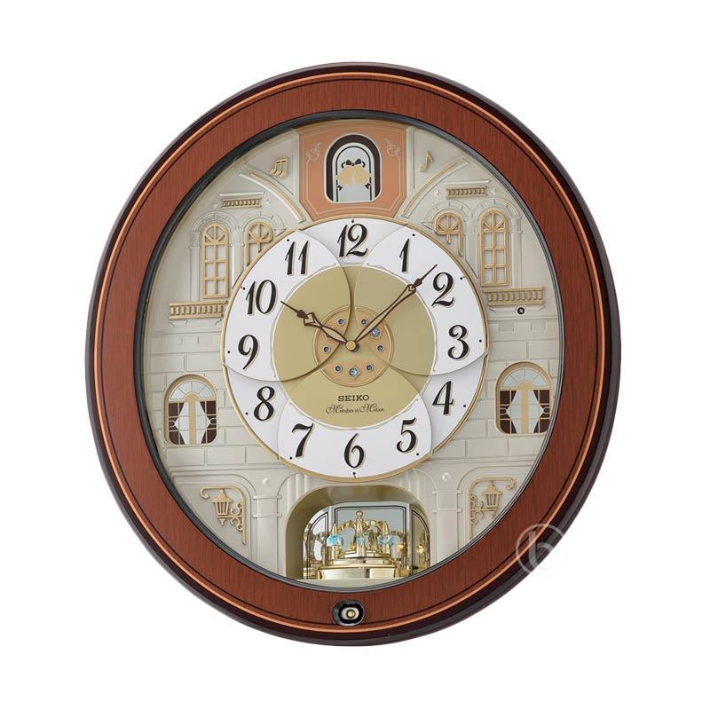 harga Seiko QXM368B Westminster Melodies in Motion Wooden Wall Clock Jam Dinding - Brown Blibli.com