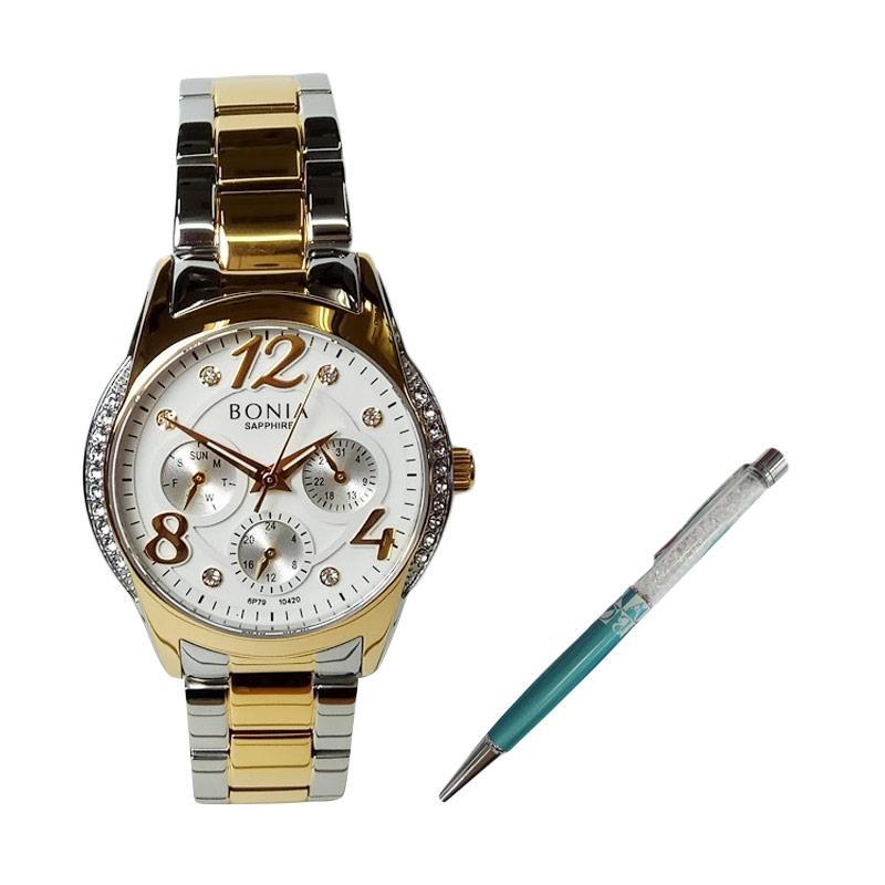 ... Bonia Bn10184 2617 Jam Tangan Wanita Silver Rose Gold Stainless Source Spek Harga Bonia BNB10420 2115S