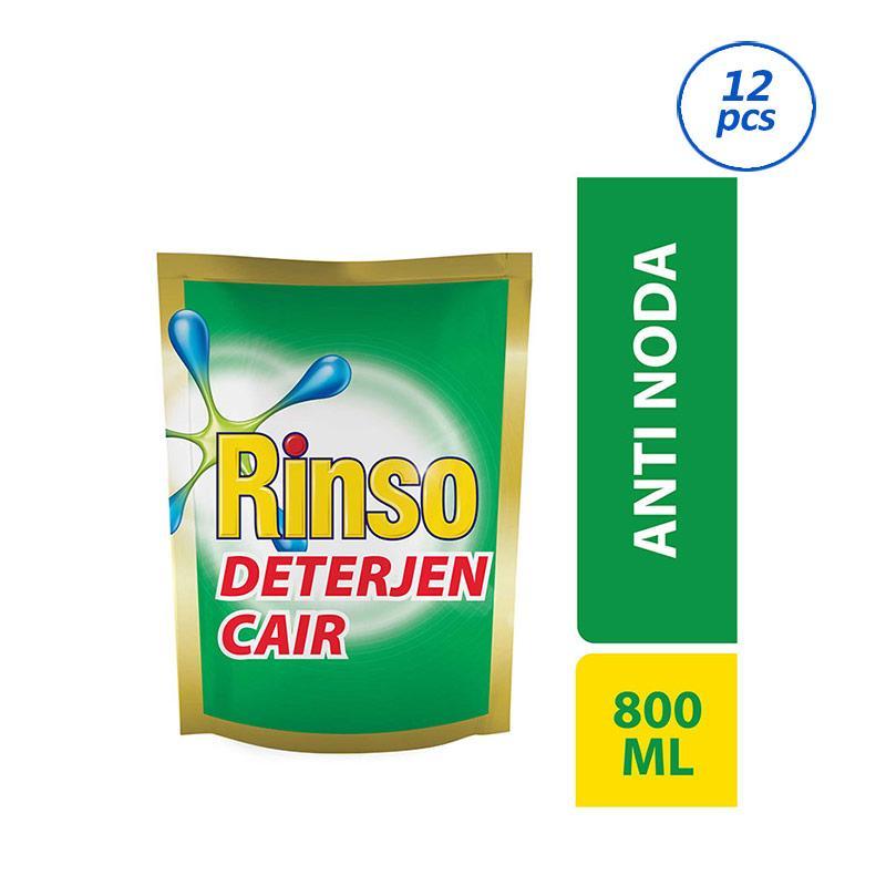 RINSO Anti Noda Liquid Detergent Pouch [800 mL/12 pcs] 21135207