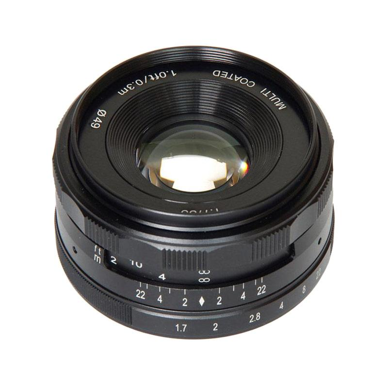 Meike 35mm F1 7 Lensa Kamera for Mirrorless Fujifilm X Mount Series