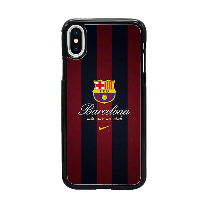 Acc Hp Barcelona FC Messi W4958 Custom Casing for iPhone X