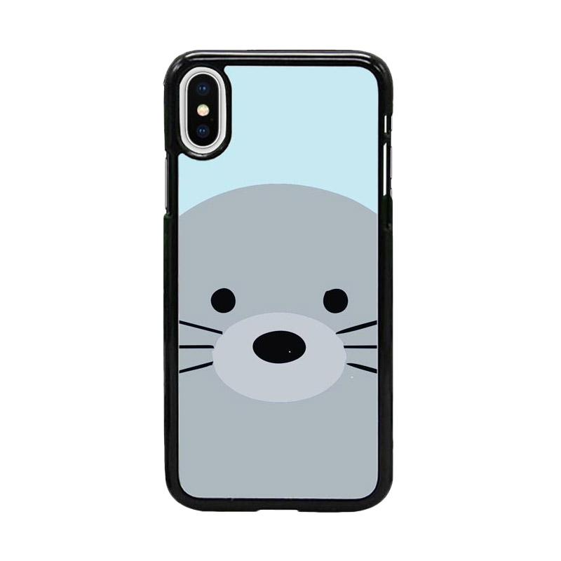 Acc Hp Seal Animal in Water W5064 Custom Casing for iPhone X