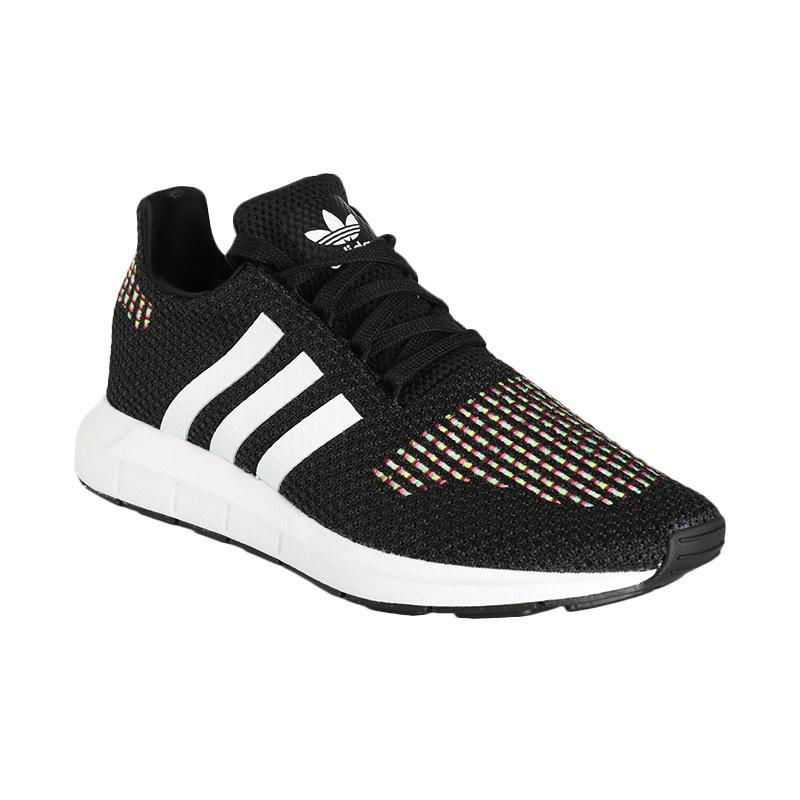 adidas Originals Women Swift Sepatu Lari Wanita Black White CQ2025