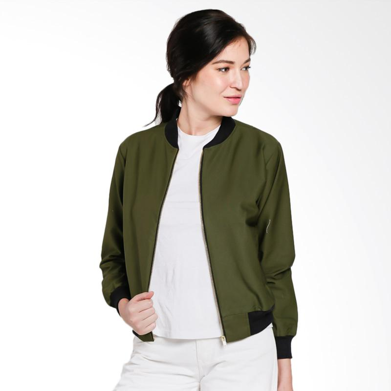 Papercut Fashion NK Brunette Bomber Jacket Wanita