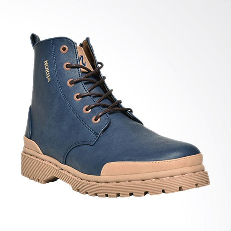 harga NOKHA Xander Sepatu Boots Wanita - Navy Blibli.com