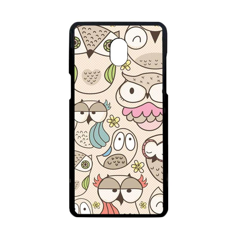 Bunnycase Casing Owl Pattern L0411 Custom Hardcase For Samsung Galaxy J7 Pro Or 2017