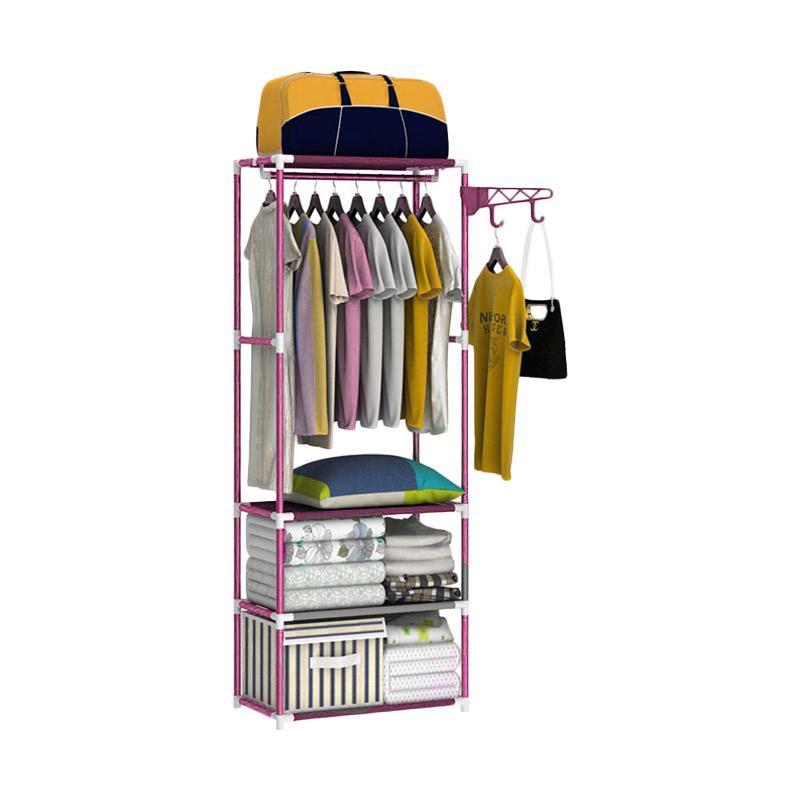 Kelebihan Kekurangan Godric Square Steady Stand Hanger Rak Buku / Rak Pakaian Baju / Rak Serbaguna