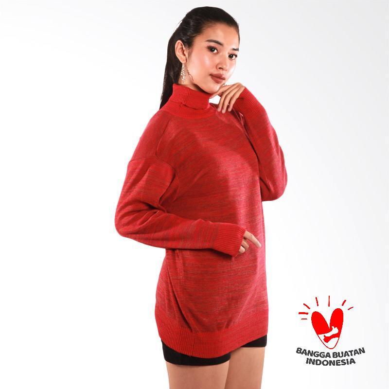 Eugene Sweater Rajut Cantik Wanita Merah