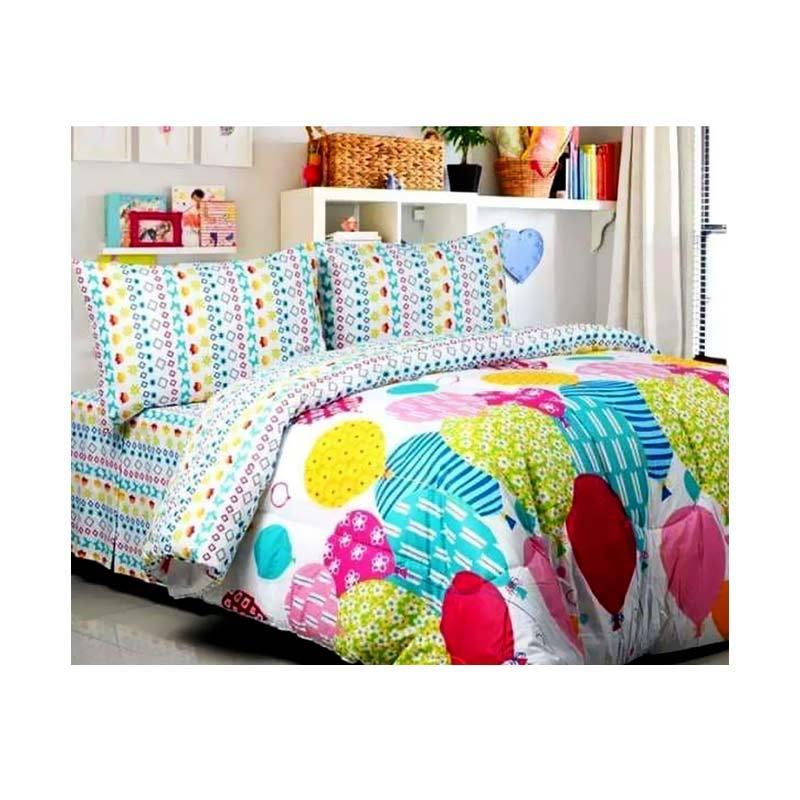 Jual Ellenov Motif Ballon Set Sprei U0026 Bed Cover Online   Harga U0026 Kualitas  Terjamin | Blibli.com