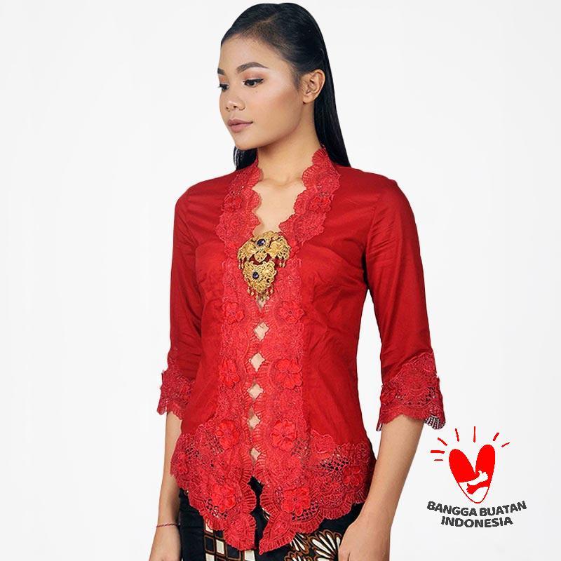 harga Bintang Mira Kebaya Bordir Wanita - Merah Blibli.com