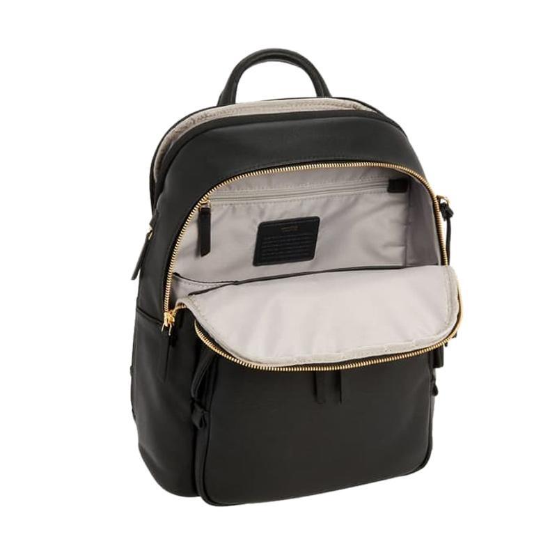 Jual TUMI Voyageur Dori Leather Backpack Tas Wanita - Black Online - Harga & Kualitas Terjamin | Blibli.com