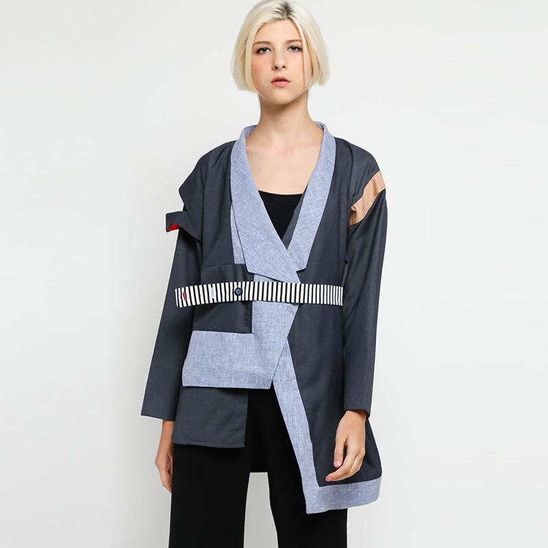 Oline Workrobe Asymmetric Kimono Jacket