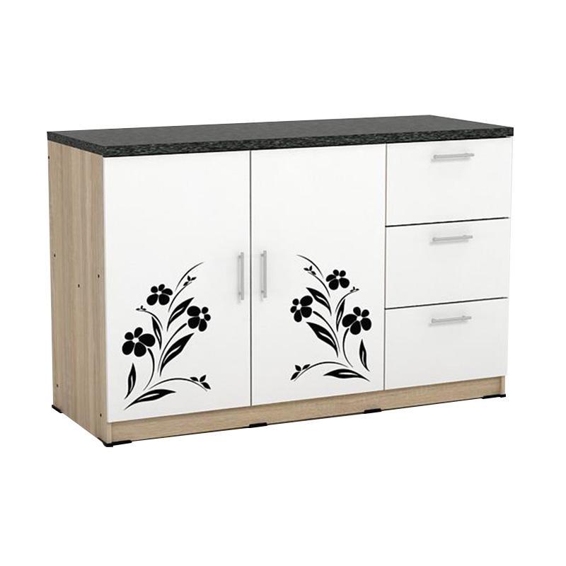 Jual Metropolis Kc Bu120 Sonoma Oak White Granite Dahlia Kitchen Cabinets Online November 2020 Blibli