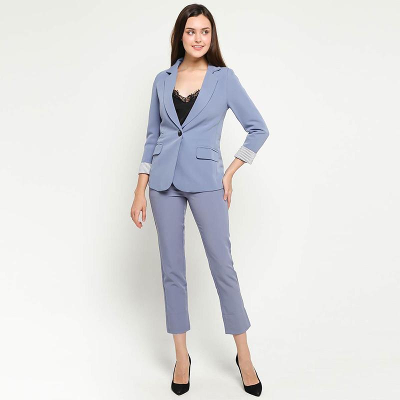 9 To 12 Blazer HBJJ Set With Long Pants 002 Setelan Wanita