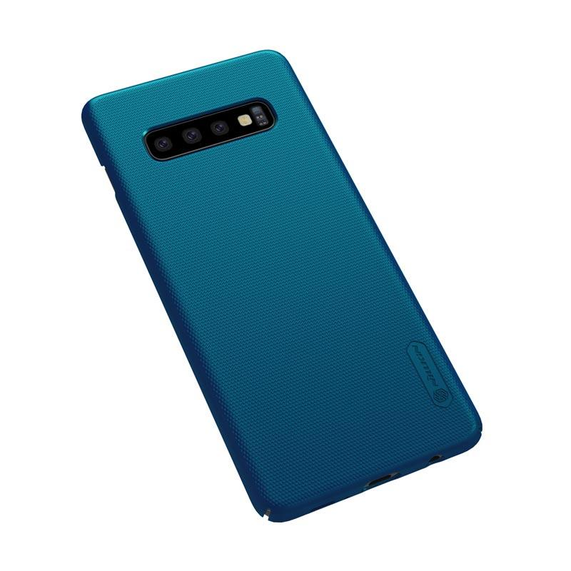 Jual Nillkin Frosted Hardcase Casing for Samsung Galaxy S10+ / S10 Plus 6.4 Inch - Blue