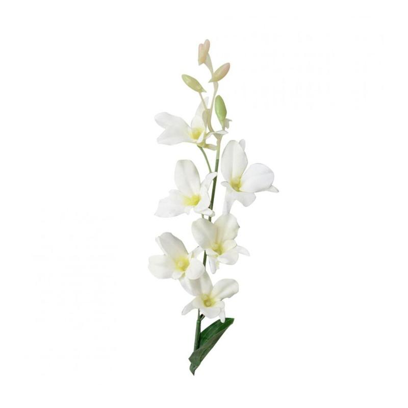 WHITE ORCHID FLOWER EUROPEAN BLOWN GLASS CHRISTMAS TREE ORNAMENT DECORATION