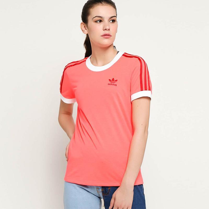 adidas Originals Women 3 Stripes T Shirt Atasan Wanita