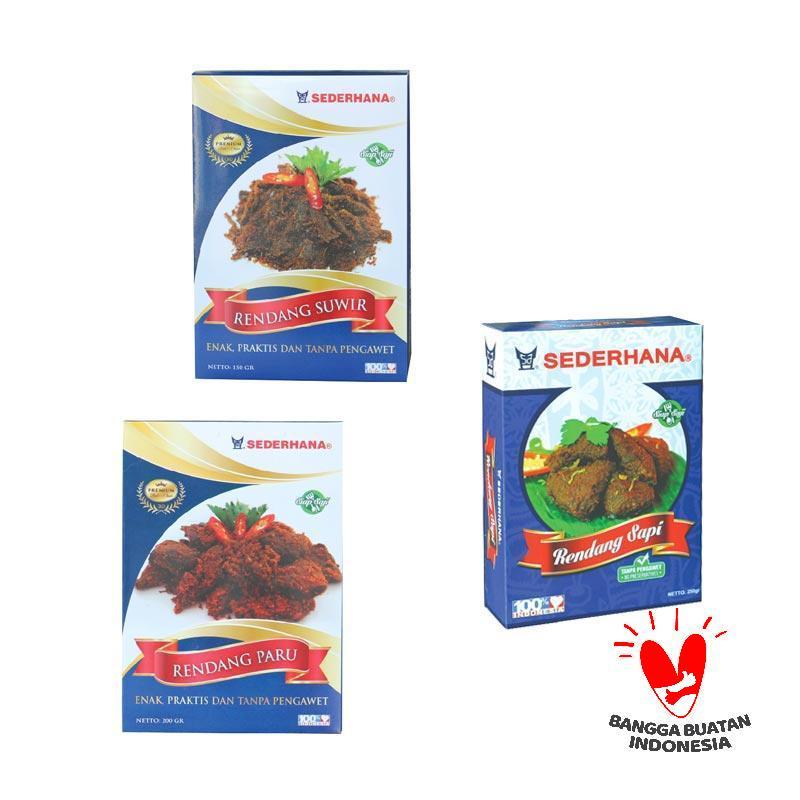 Rendang Sederhana Makanan Olahan 3 Box