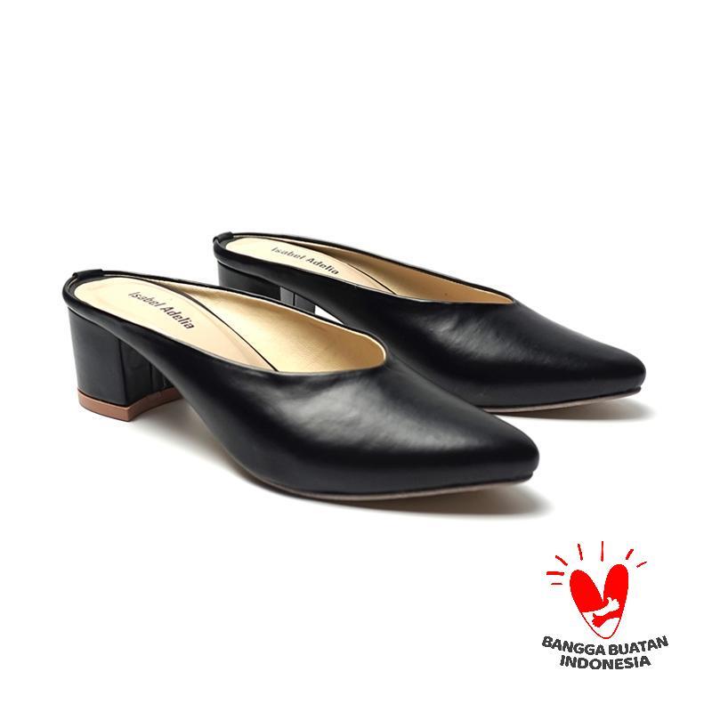 Isabel Adelia Seika Block Heels Mules Sepatu Wanita