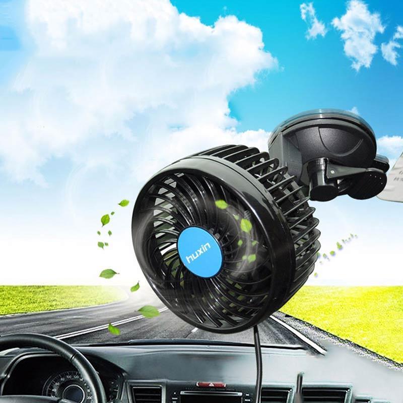12V Car Air Coooling 360 Degree Pratical Adjustable Car Fan Air Cooling Fan TS