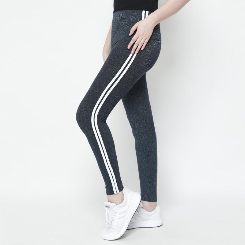 Jual Duapola 9022 White List Celana Legging Wanita Online Oktober 2020 Blibli Com