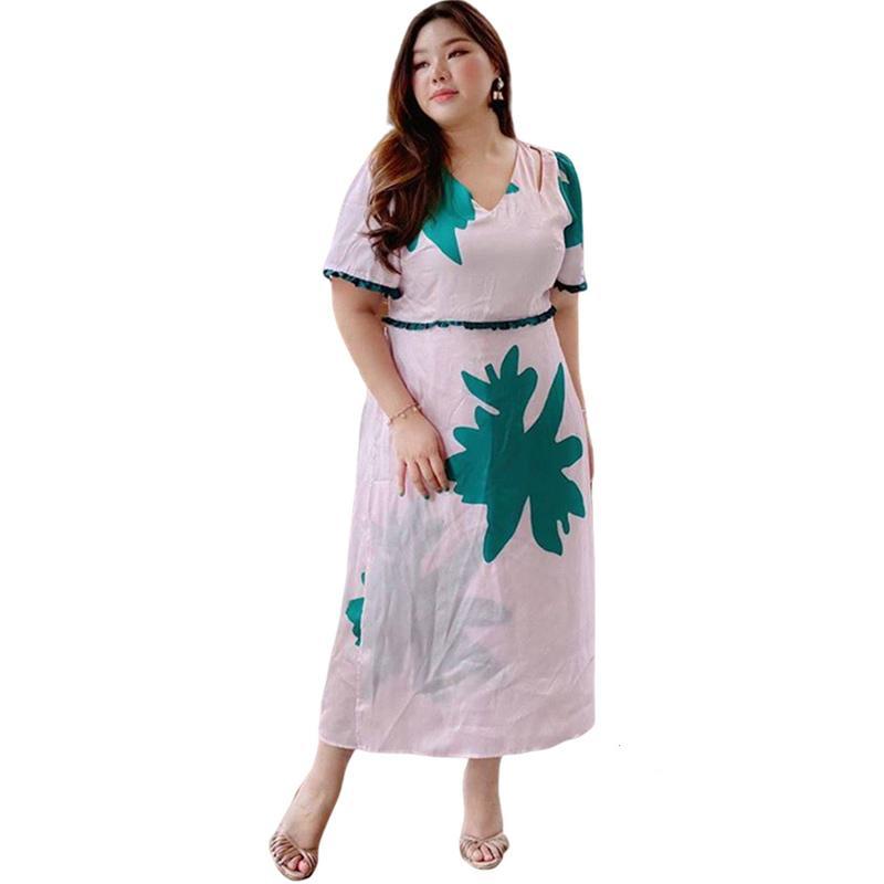 Varaphorn Plus Size Silk Maxi Dress Wanita