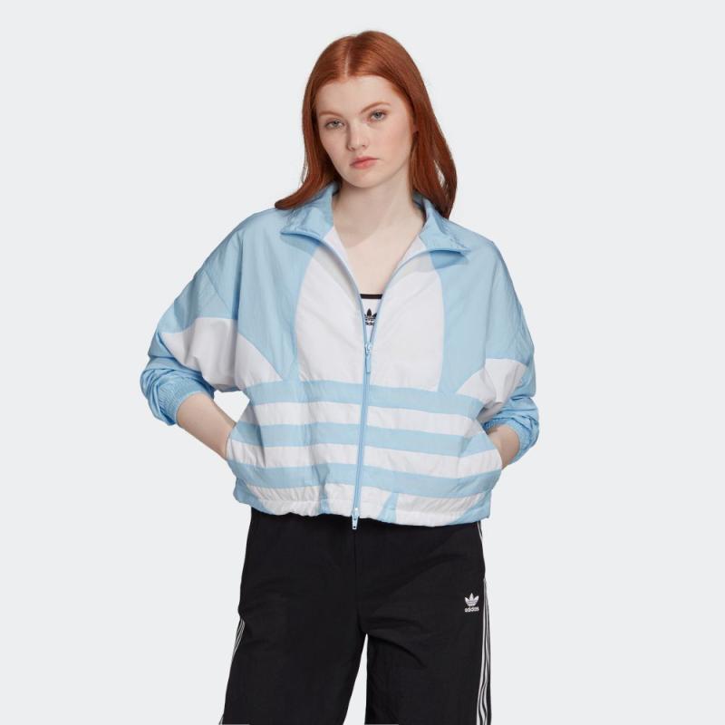 adidas Large Logo Track Originals Jacket Atasan Olahraga Wanita
