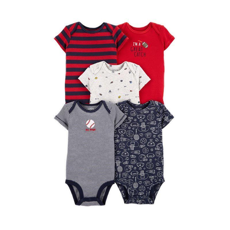 Carter s Sports Baby Bodysuits Original 5 Pack