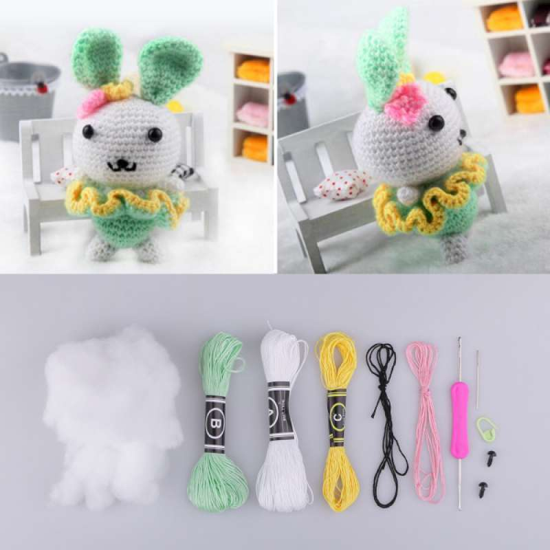 Rabbit Amigurumi Crochet Kit DIY