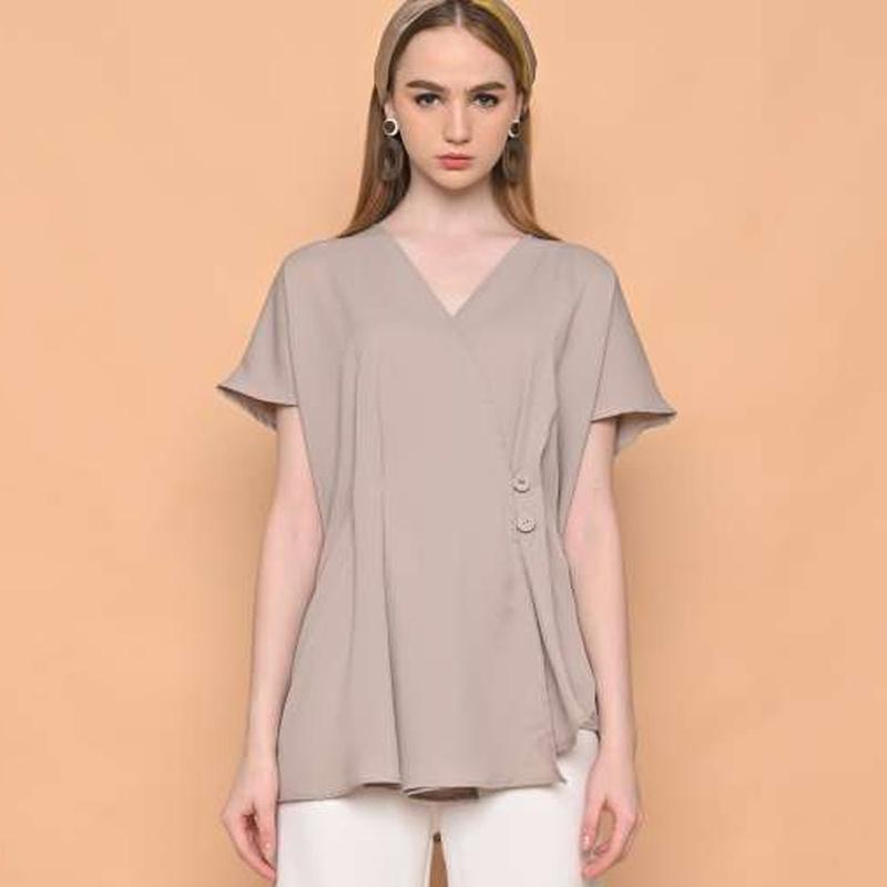 his Is April Regina Top Blouse Wanita Khaki