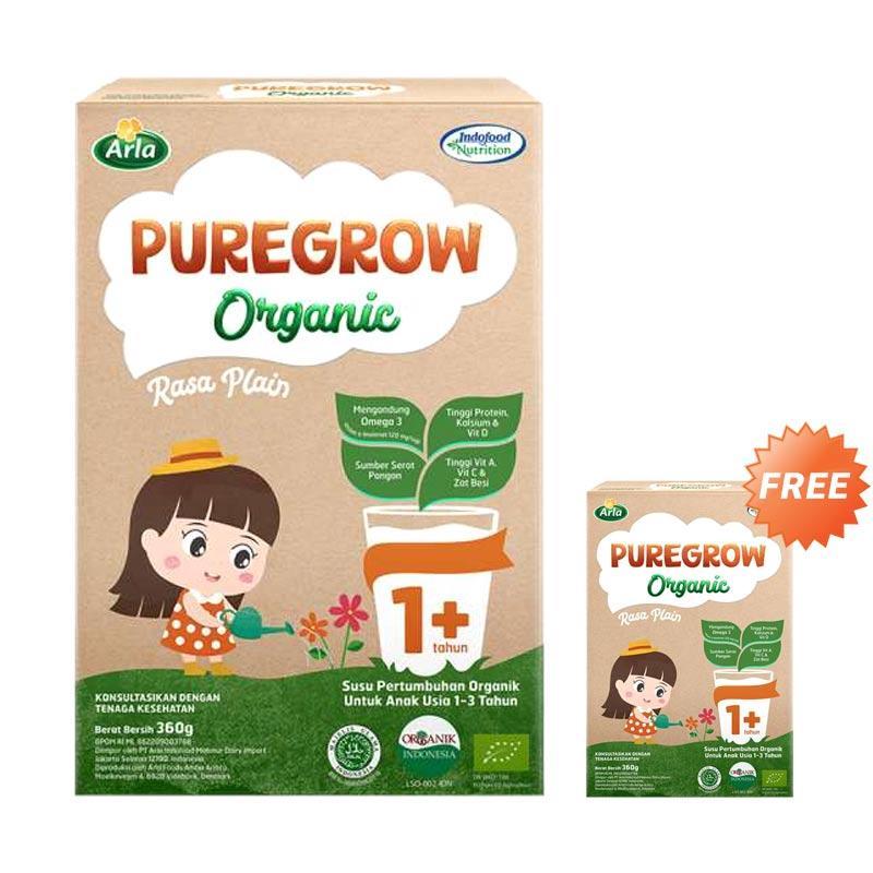 PUREGROW Organic Girl Susu Formula 360 g 1 3 Tahun Buy 1 Get 1