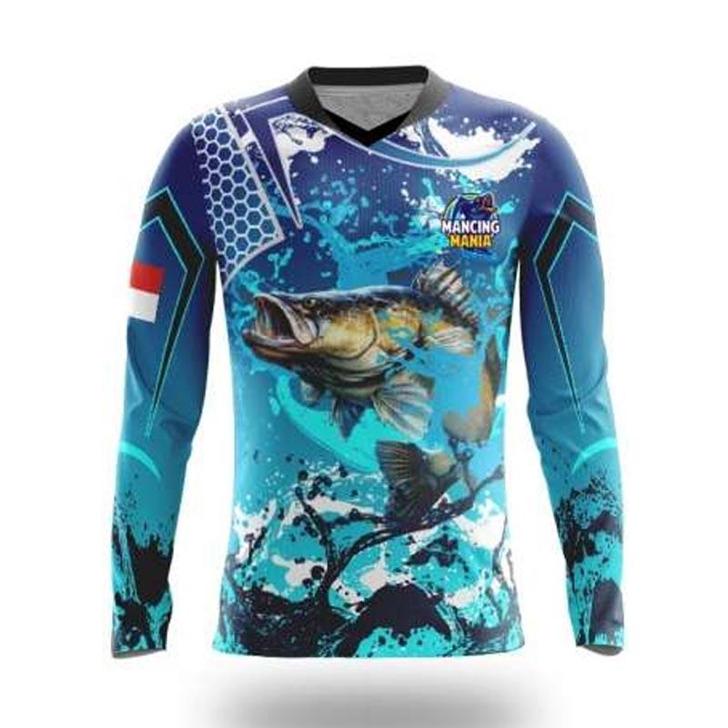 Jual Bintang Sport Jersey Mancing V Neck Lancip Custom Lengan Panjang Unisex Emnfp06b Mania 02 Online Oktober 2020 Blibli Com