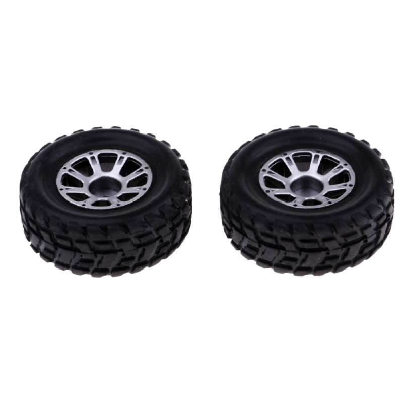 2pieces 1:14 Scale Anti-skid Rubber Tire Cover Set for Tamiya RC Crawler Kit