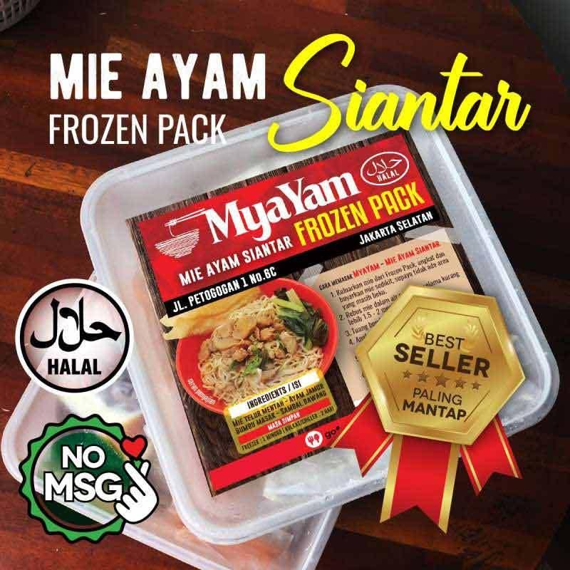 MyaYam Mie Ayam Siantar Frozen Pack 3 Pcs