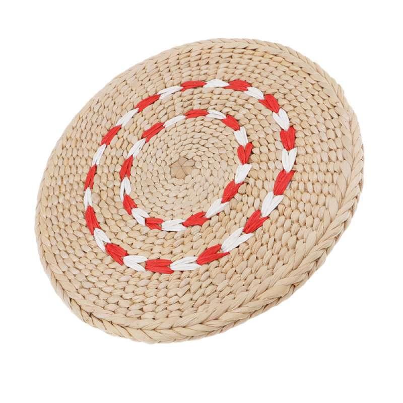 2x 45CM Natural Straw Pouf Tatami Cushion Home Floor Meditation Yoga Round