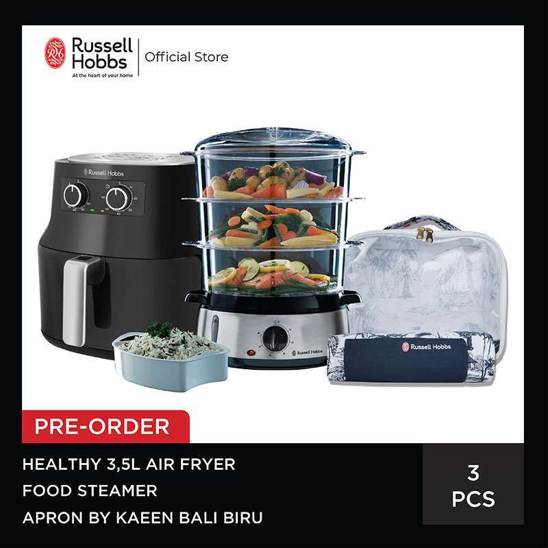 Bundling Russell Hobbs Healthy Airfryer 3 5L Food Steamer Set Apron