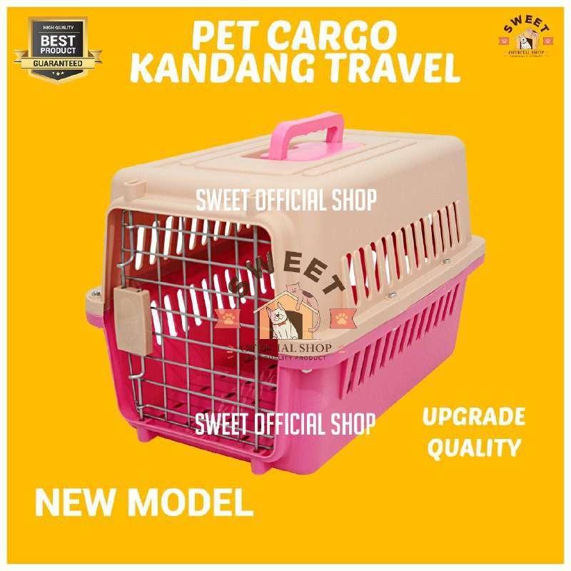 Pet Cargo Pet Carrier BONUS Tray Kandang Cargo Kucing Anjing 50x35x35